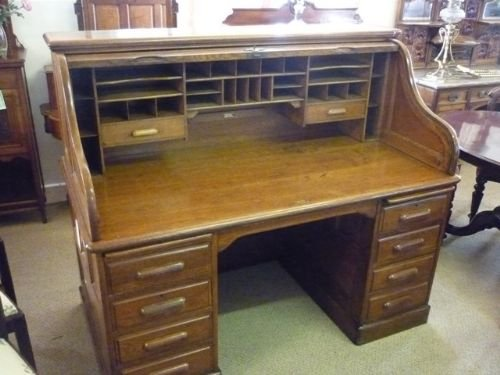 antique roll top desk - Antique Roll Top Desk 159133 Sellingantiques.co.uk