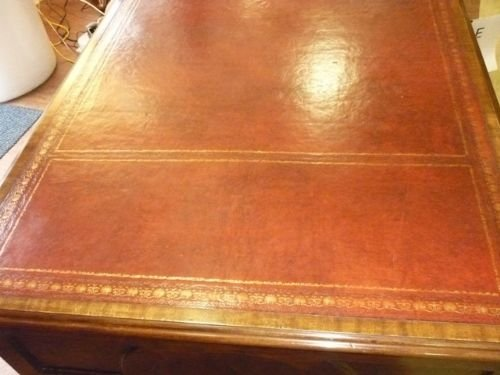 antique victorian partners desk - photo angle #5
