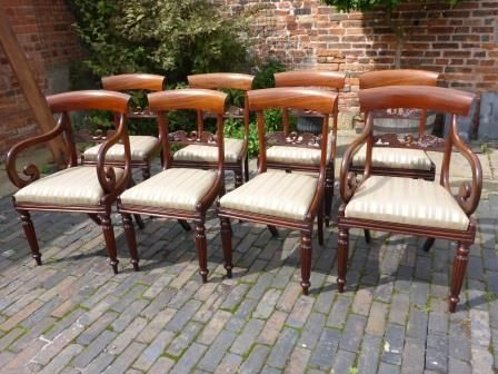 Antique Georgian Dining Chairs Set Of 8