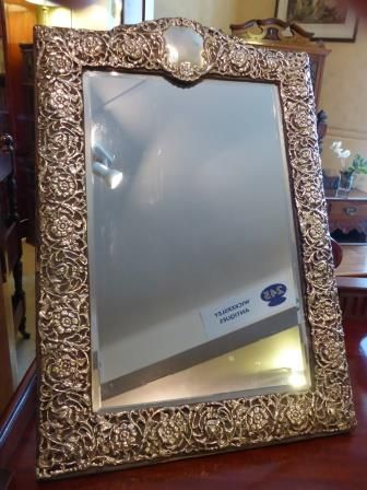 Antique Sterling Silver Dressing Mirror 234253 Sellingantiques Co Uk