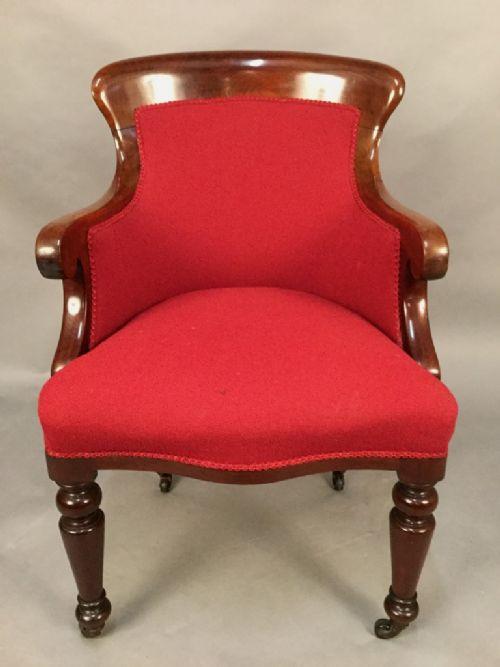 Victorian Armchair Styles Good Late Victorian Mahogany Framed Armchair Regency Style