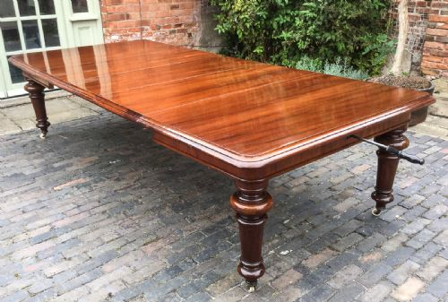 Wickersley Antiques · CONTINENTAL WALNUT DINING TABLE