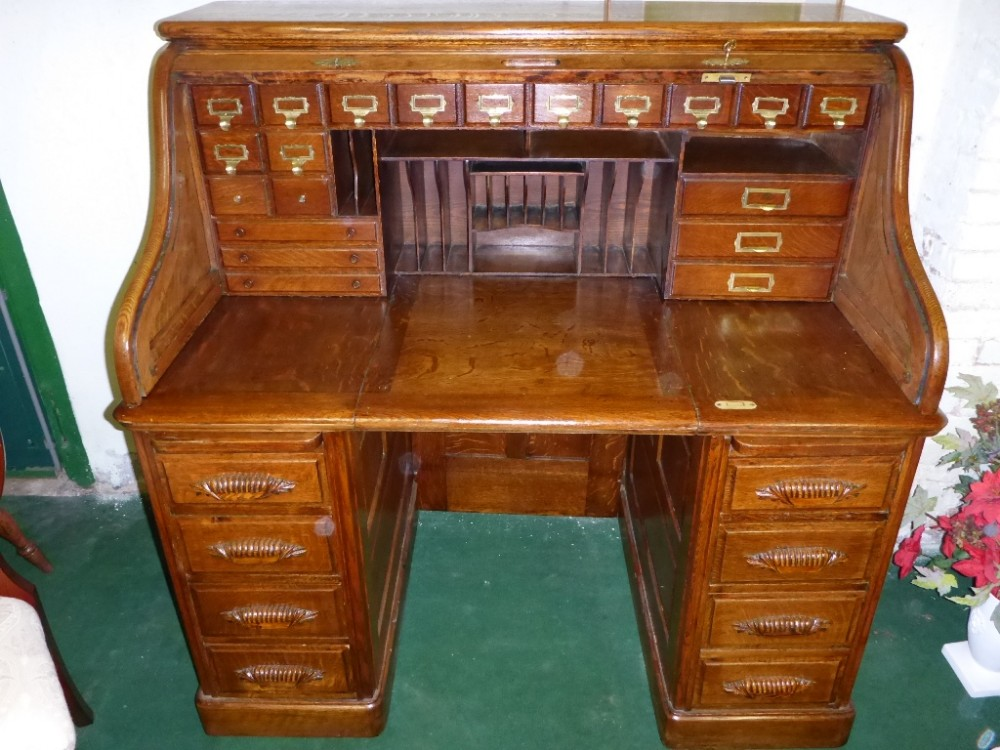 antique roll top desk - Antique Roll Top Desk 278634 Sellingantiques.co.uk