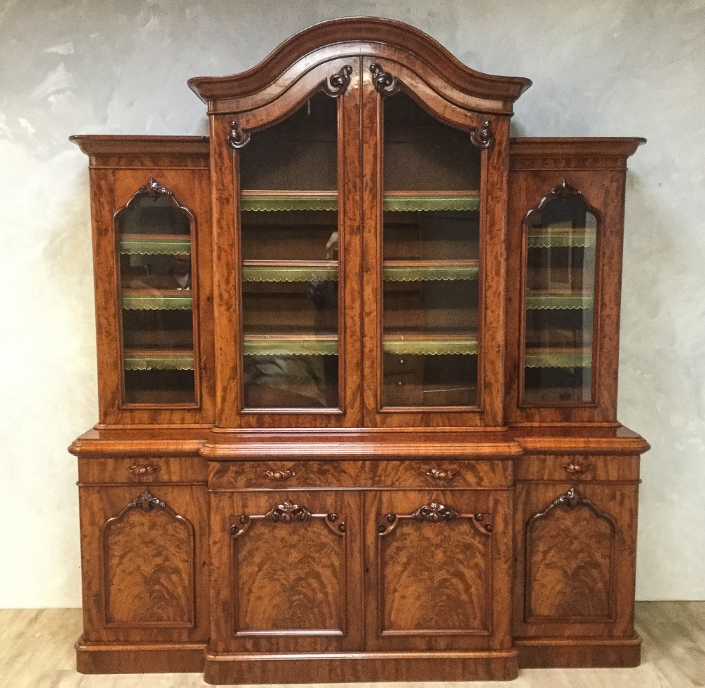 superb victorian mahogany 4 door library bookcase