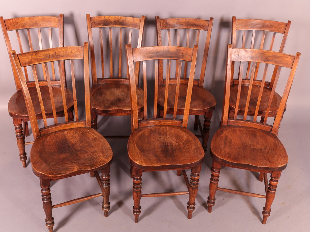 good set of 7 victorian kitchen chairs