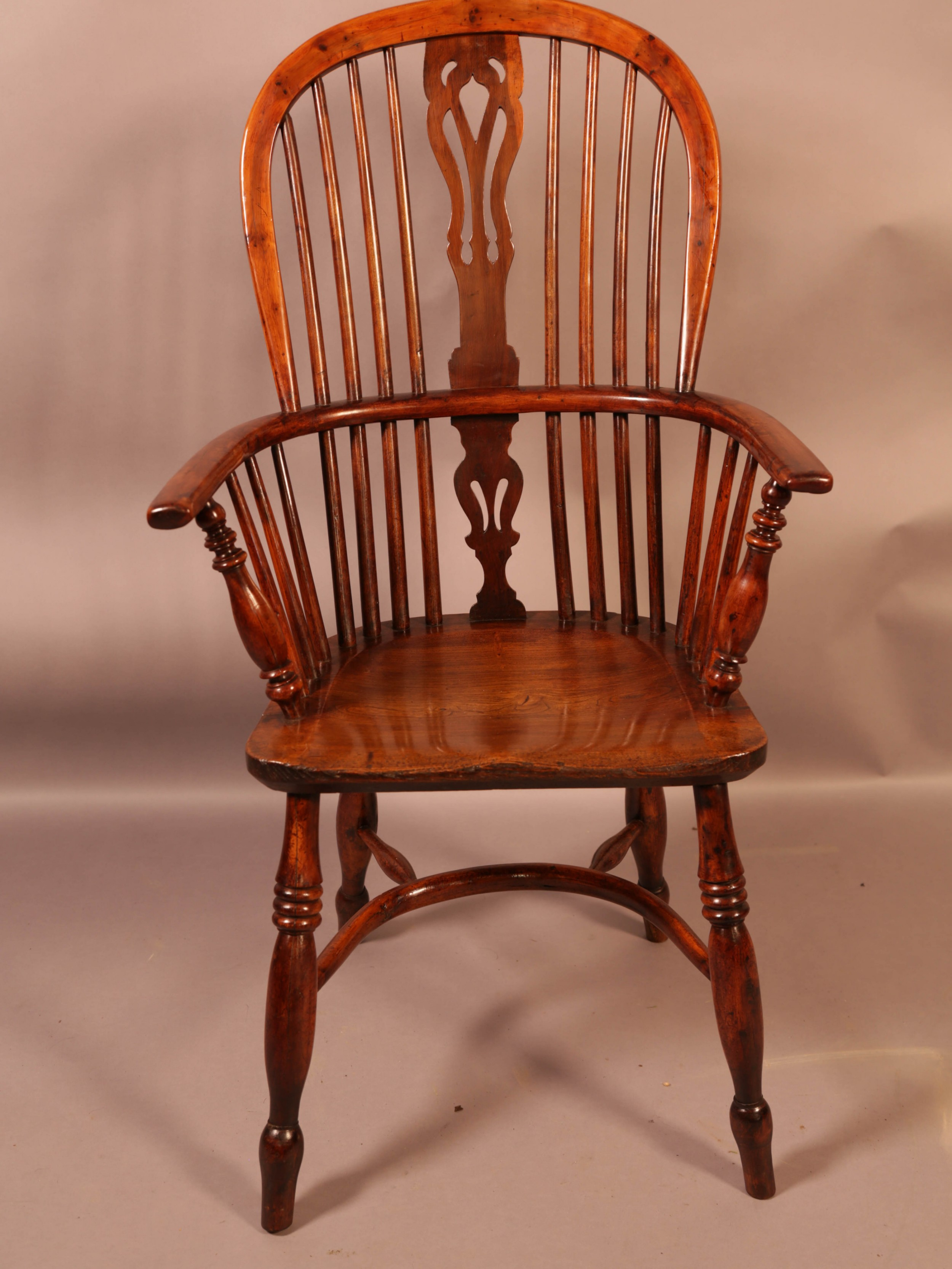 a good yew wood high back windsor chair rockley maker
