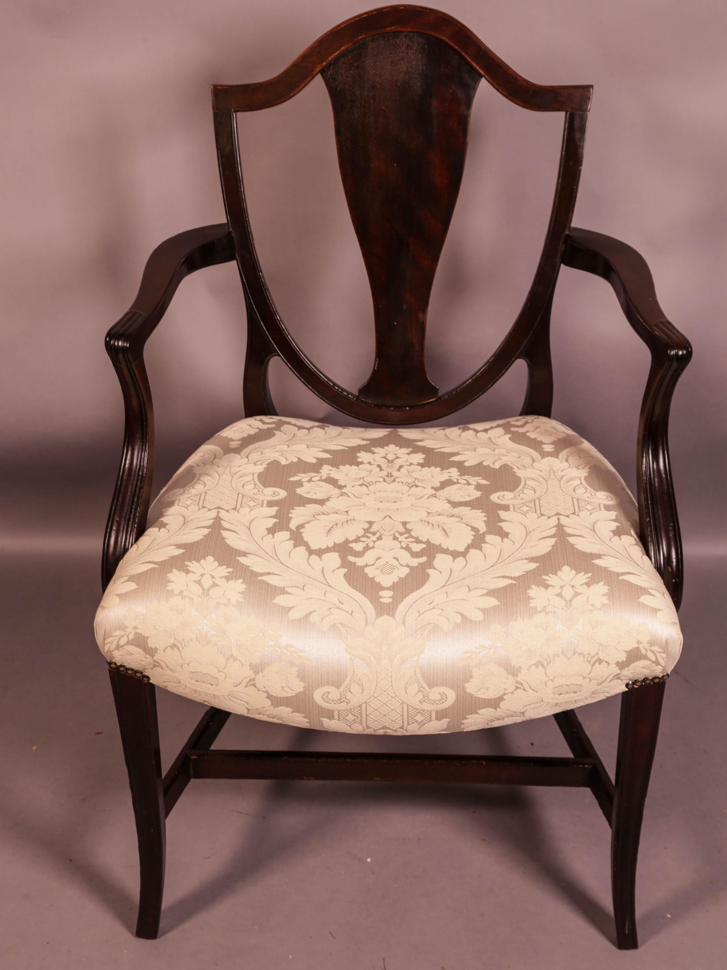 hepplewhite period carver chair