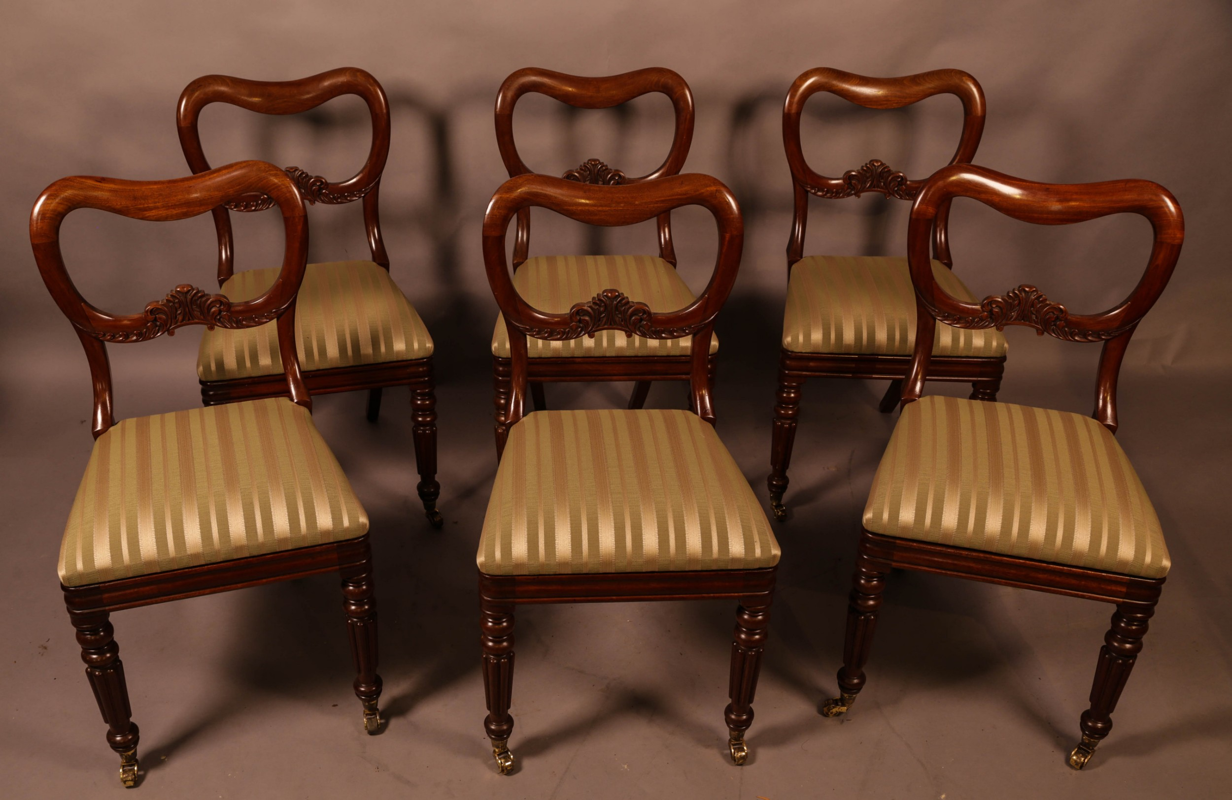 a set of 6 early victorian mahogany dining chairs posobly gillows