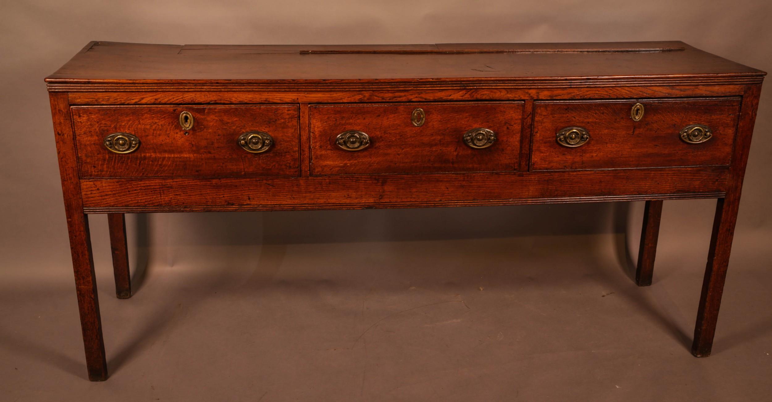 a georgian oak serving dresser
