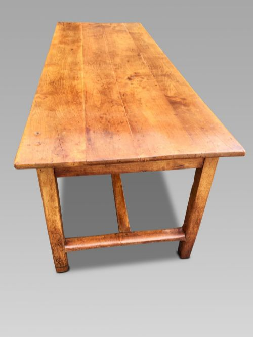 farmhouse table cherry wood french 227 cm long c1860
