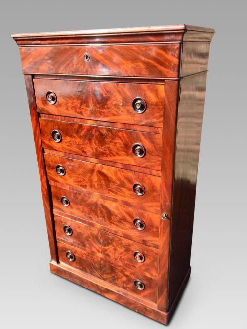 mahogany chest of drawers english c 1850