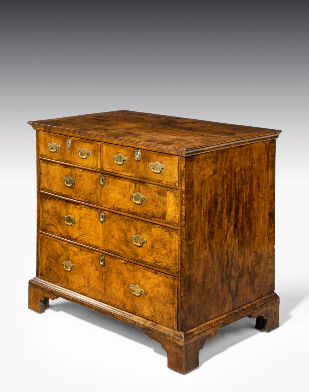a william mary period walnut chest of drawers