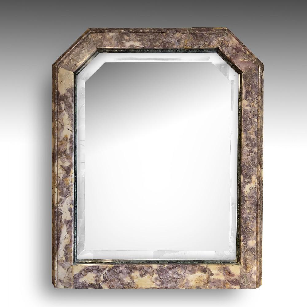 an unusual 19th century marble mirror