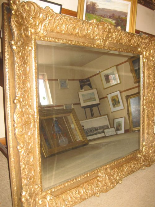 Large Heavy Gilt Framed Mirror Frame Circa 1830 48 5 Quot X