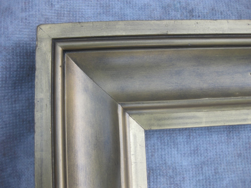 29 x 39 large unusual antique 19c victorian wood gesso picture frame mirror