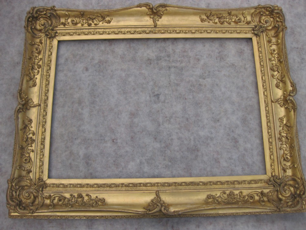 Large antique victorian gilt gold leaf rococo for Large portrait mirror