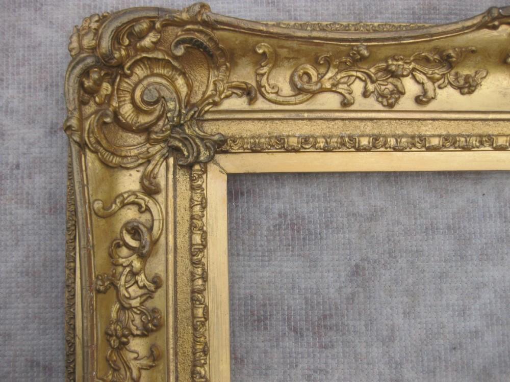 Large Antique Victorian C 1830 Gilt Gold Leaf Rococo