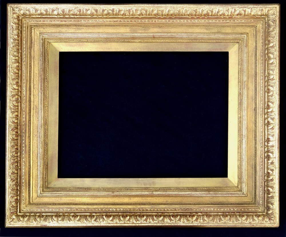 large heavy antique 18 x 24 19th c victorian preraphaelite gold picture frame