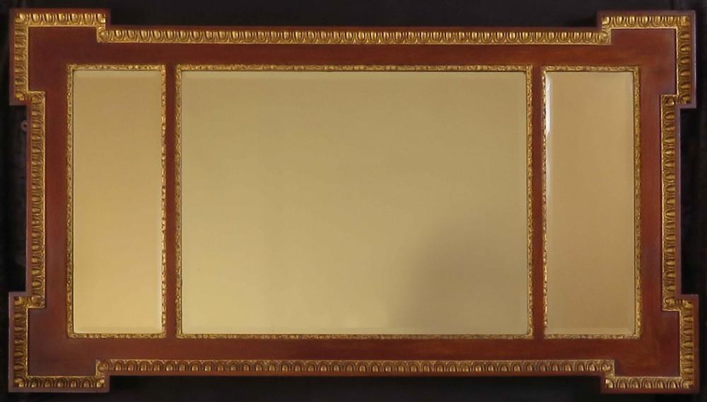 good mahogany and gilt victorian mirror