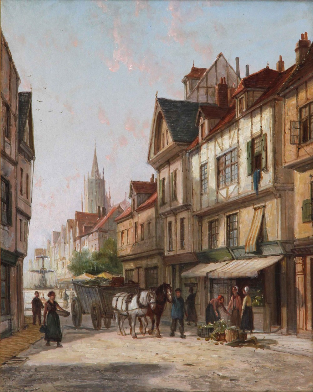 william raymond dommerson ghent oil painting architecture landscape