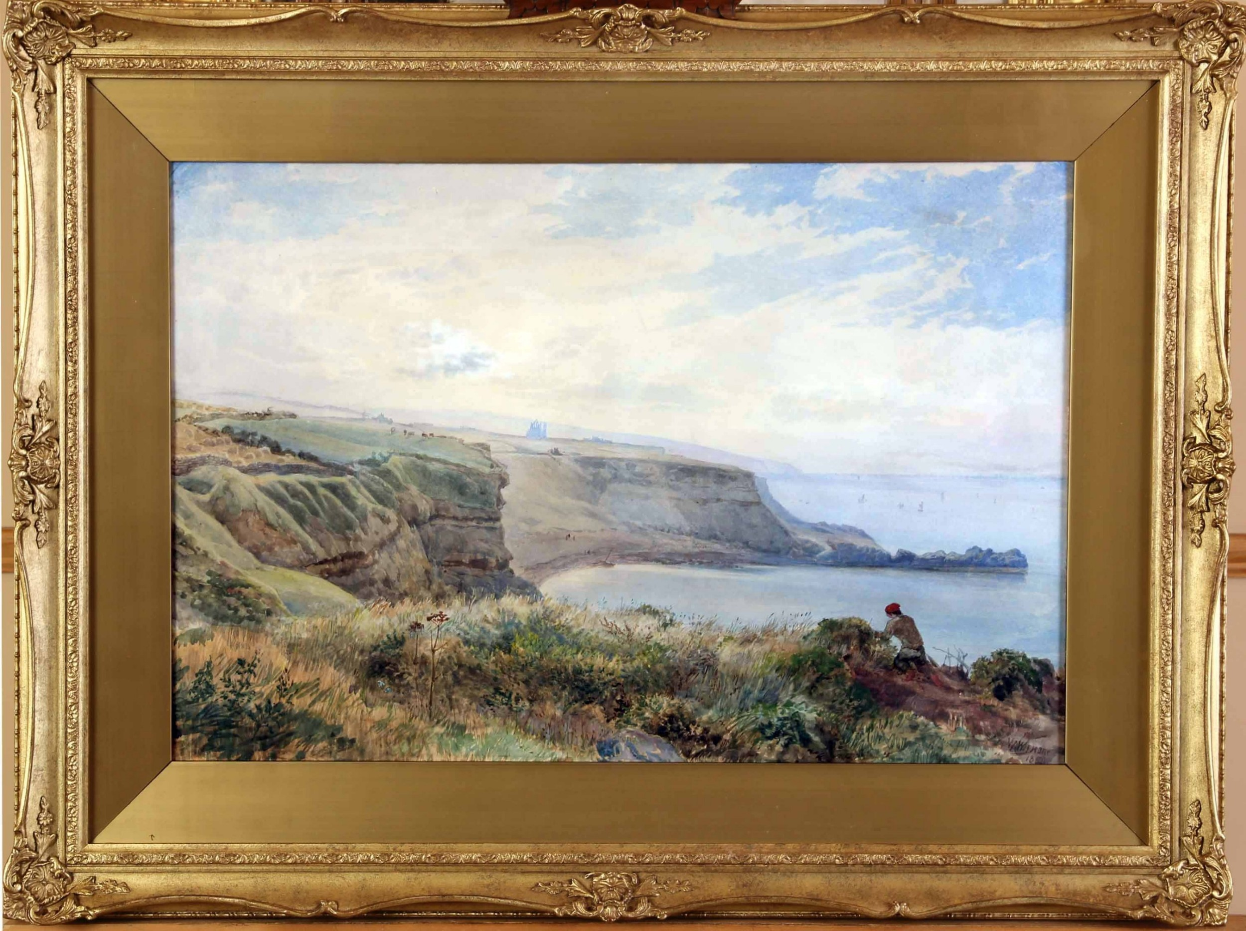 William Wood Deane Ows Whitby Good Large Watercolour