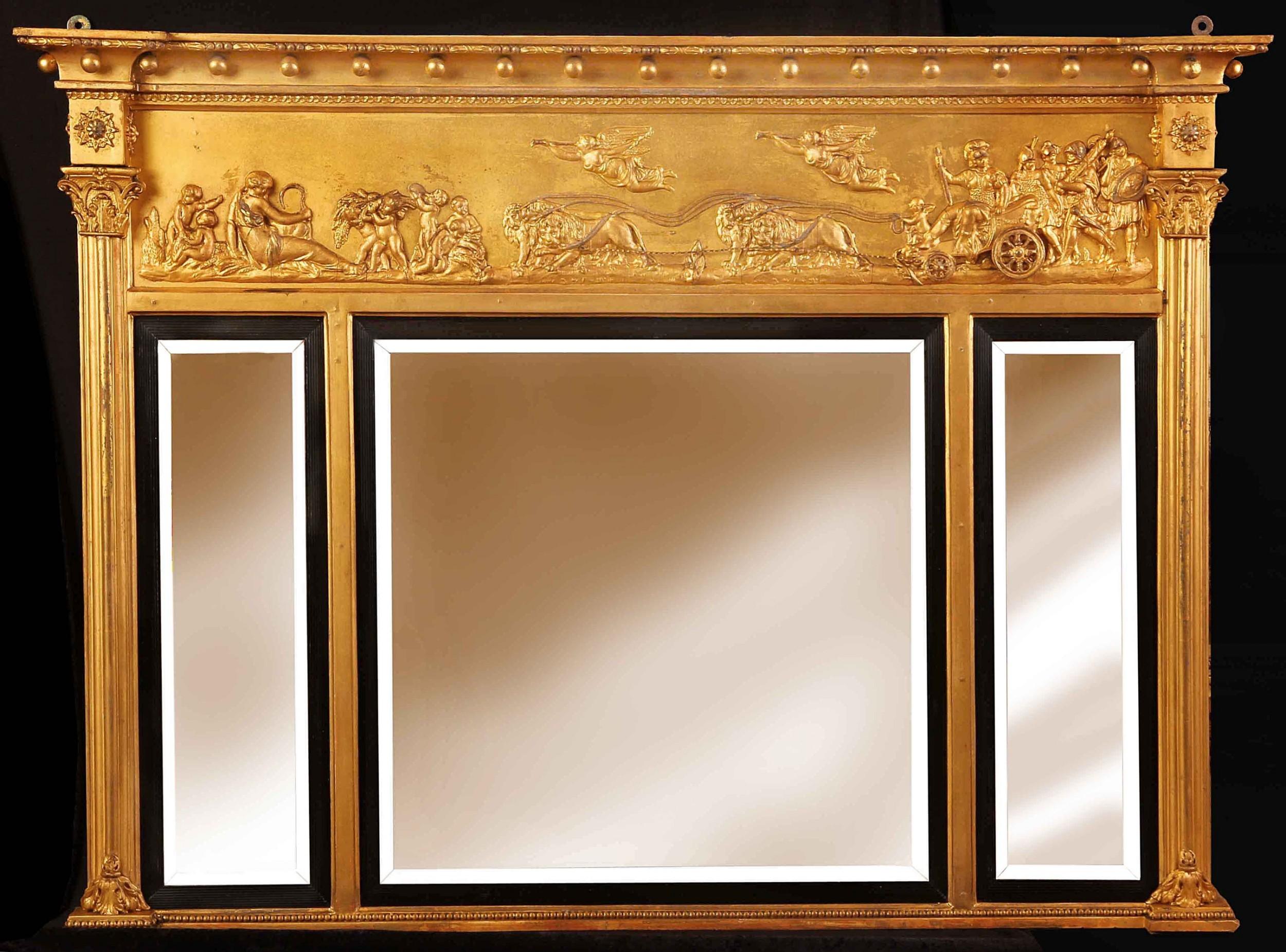 victorian overmantel mirror very good quality