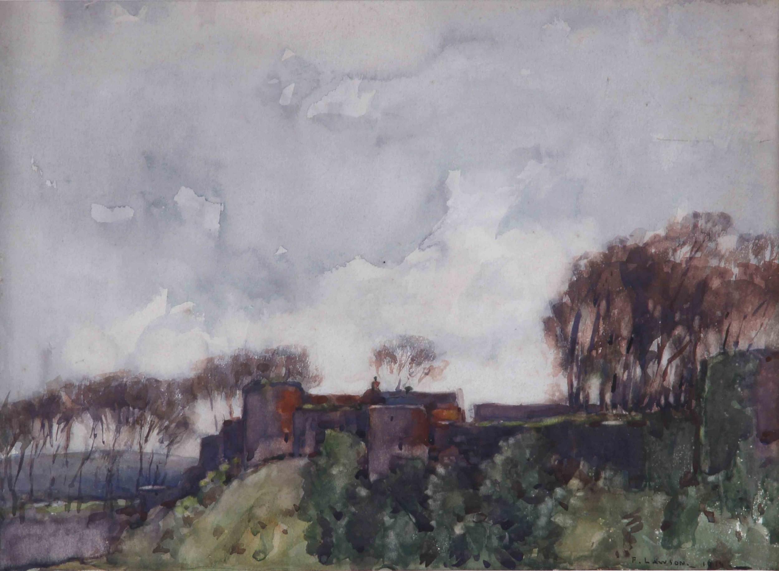 fred lawson richmond castle watercolour landscape