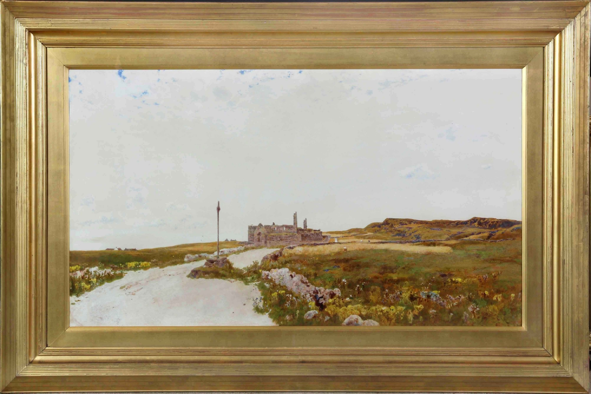 hubert coutts ri iona very large watercolour landscape