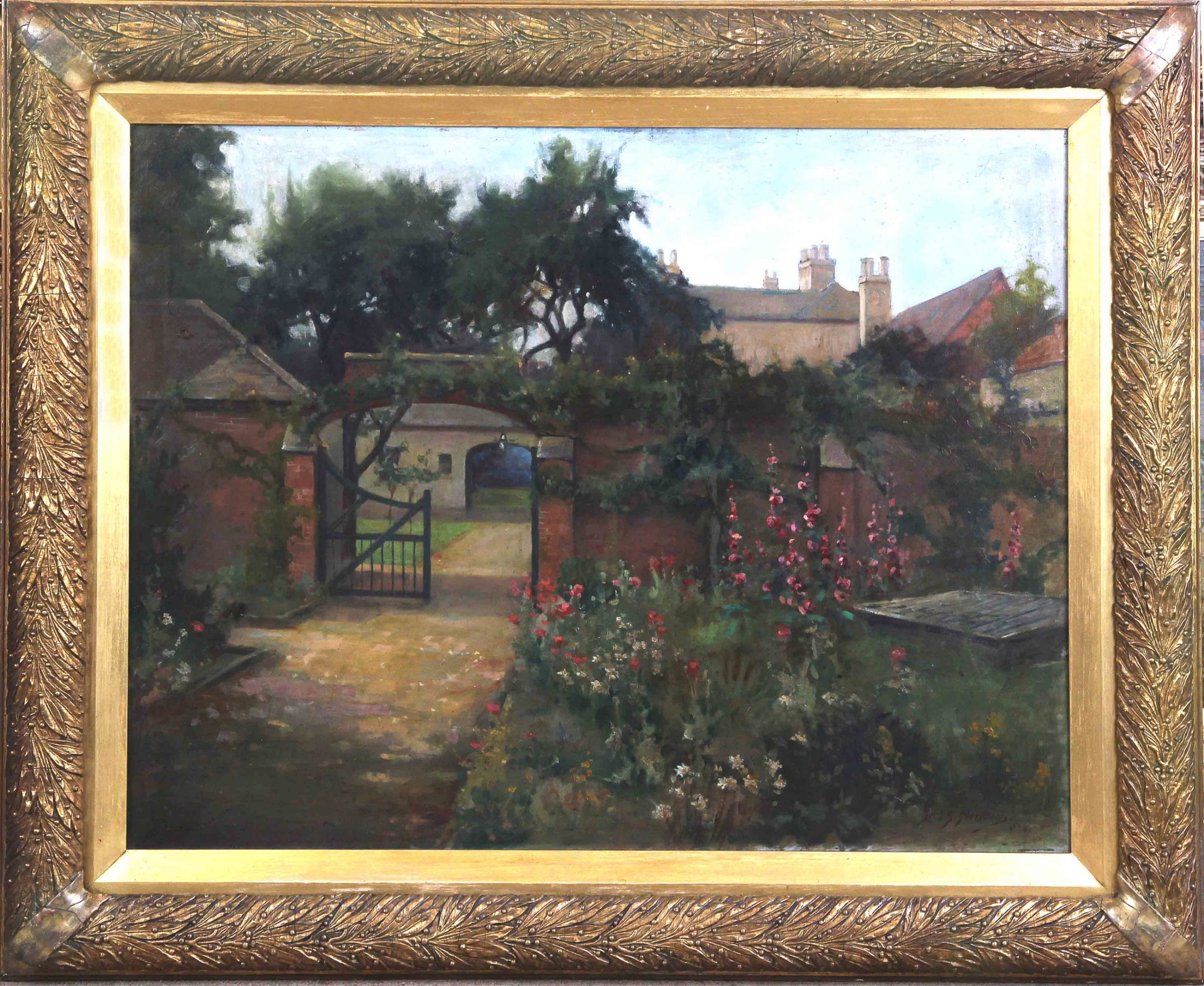 large fred merriman the country house landscape oil painting