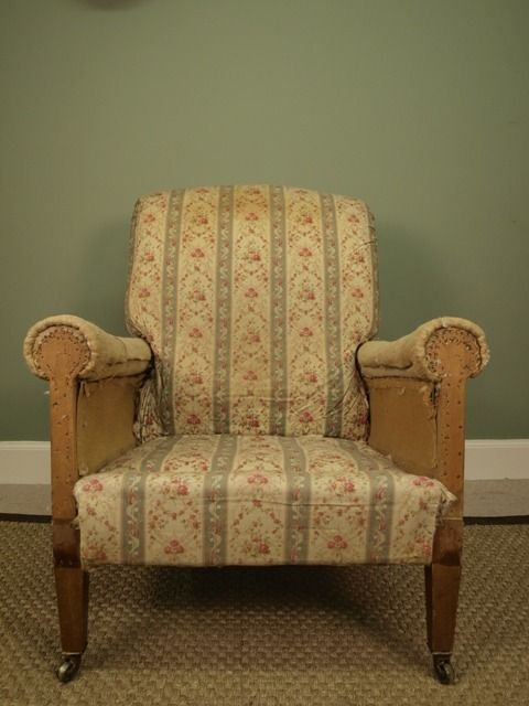 a genuine howard sons upholstered armchair