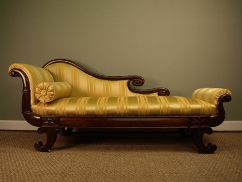 A superb regency rosewood chaise lounge 197085 for Antique chaise lounge