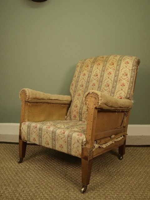 a genuine howard sons upholstered armchair - photo angle #2