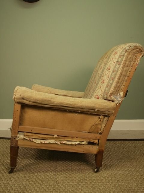 a genuine howard sons upholstered armchair - photo angle #3