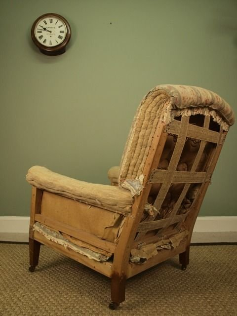 a genuine howard sons upholstered armchair - photo angle #4