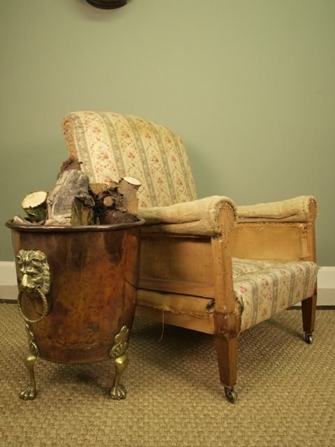 a genuine howard sons upholstered armchair - photo angle #5