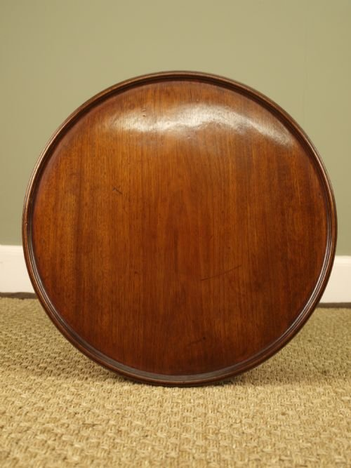 a gillows small mahogany dish top table - photo angle #5