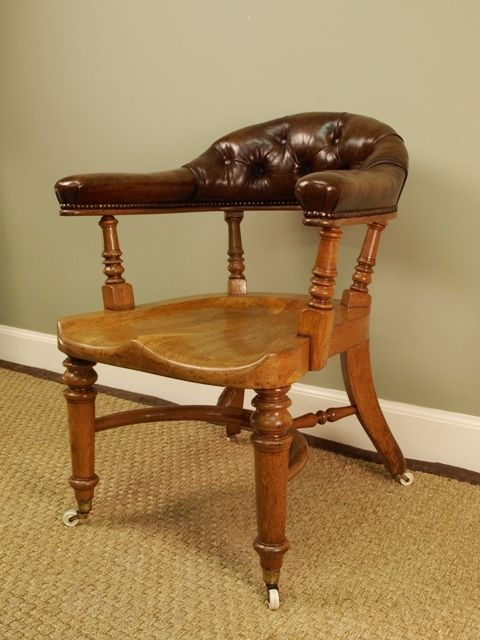 victorian office chair. A Stylish Oak Victorian Office Chair -