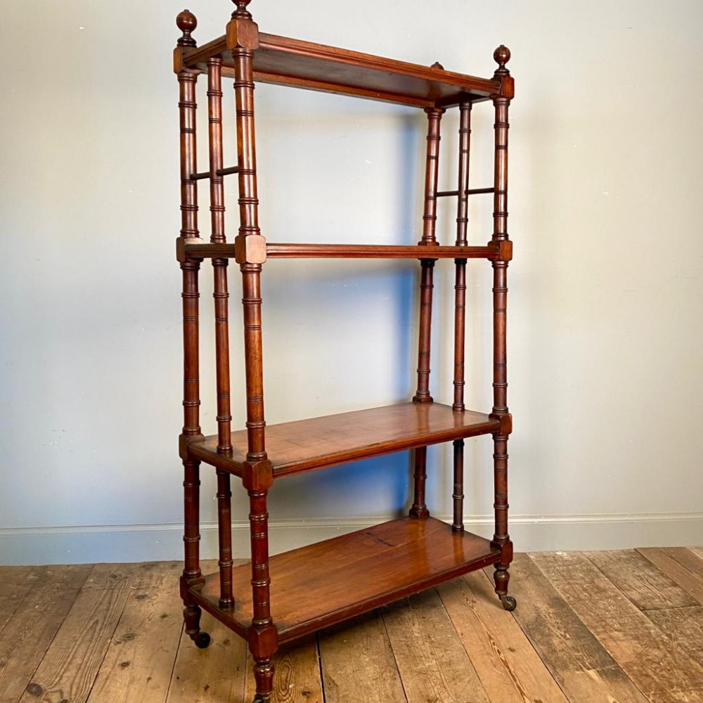 large country house walnut whatnot