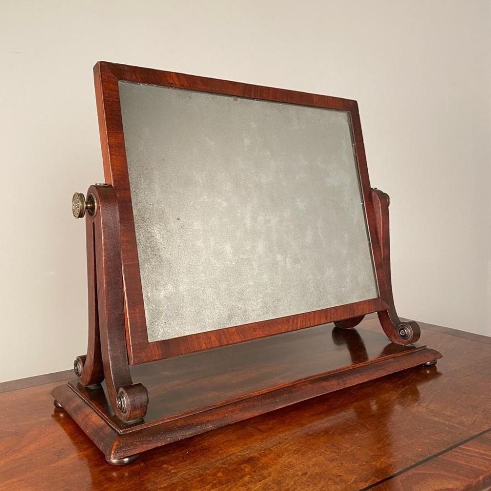 regency mahogany dressing table mirror