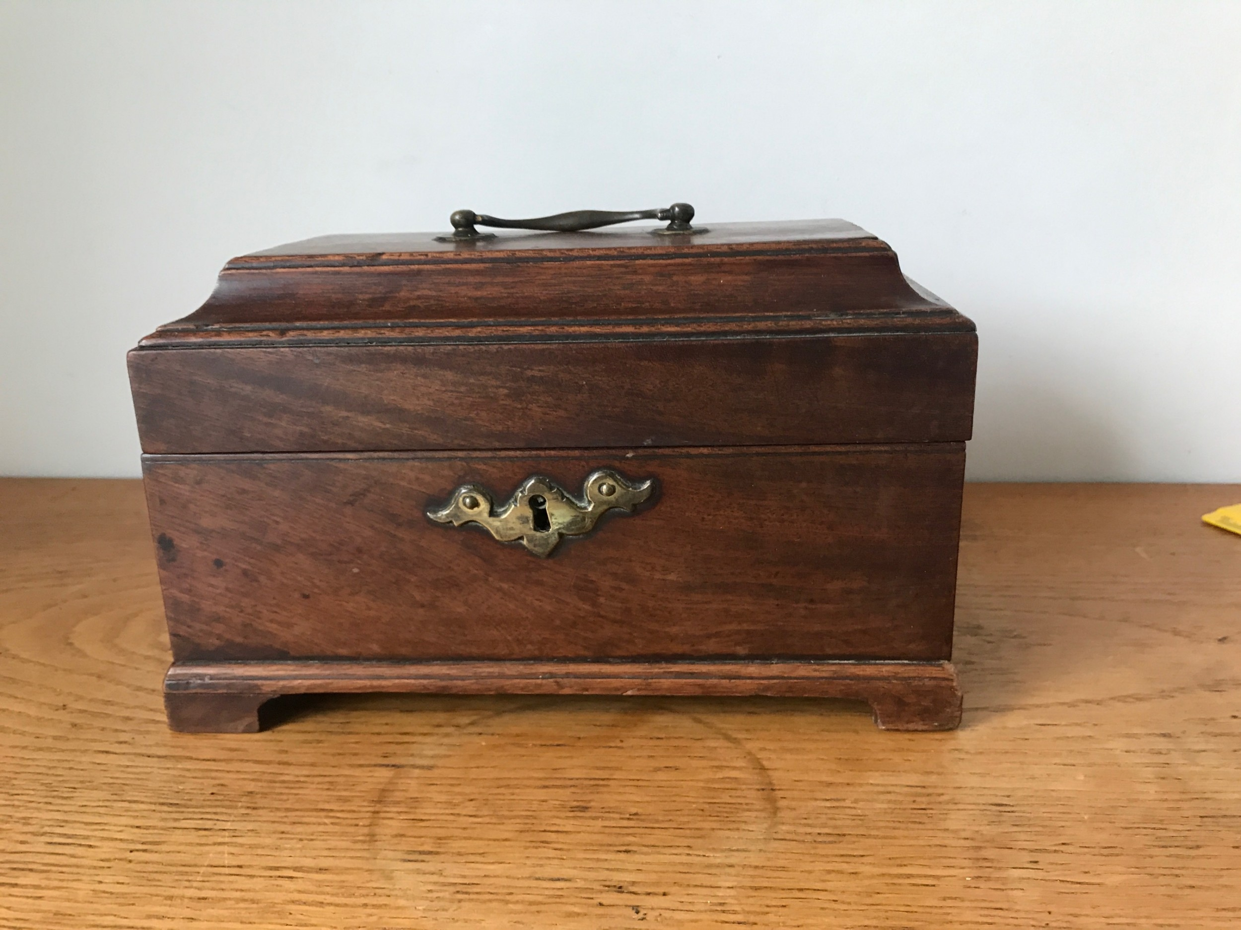 george iii mahogany chippendale style tea caddy