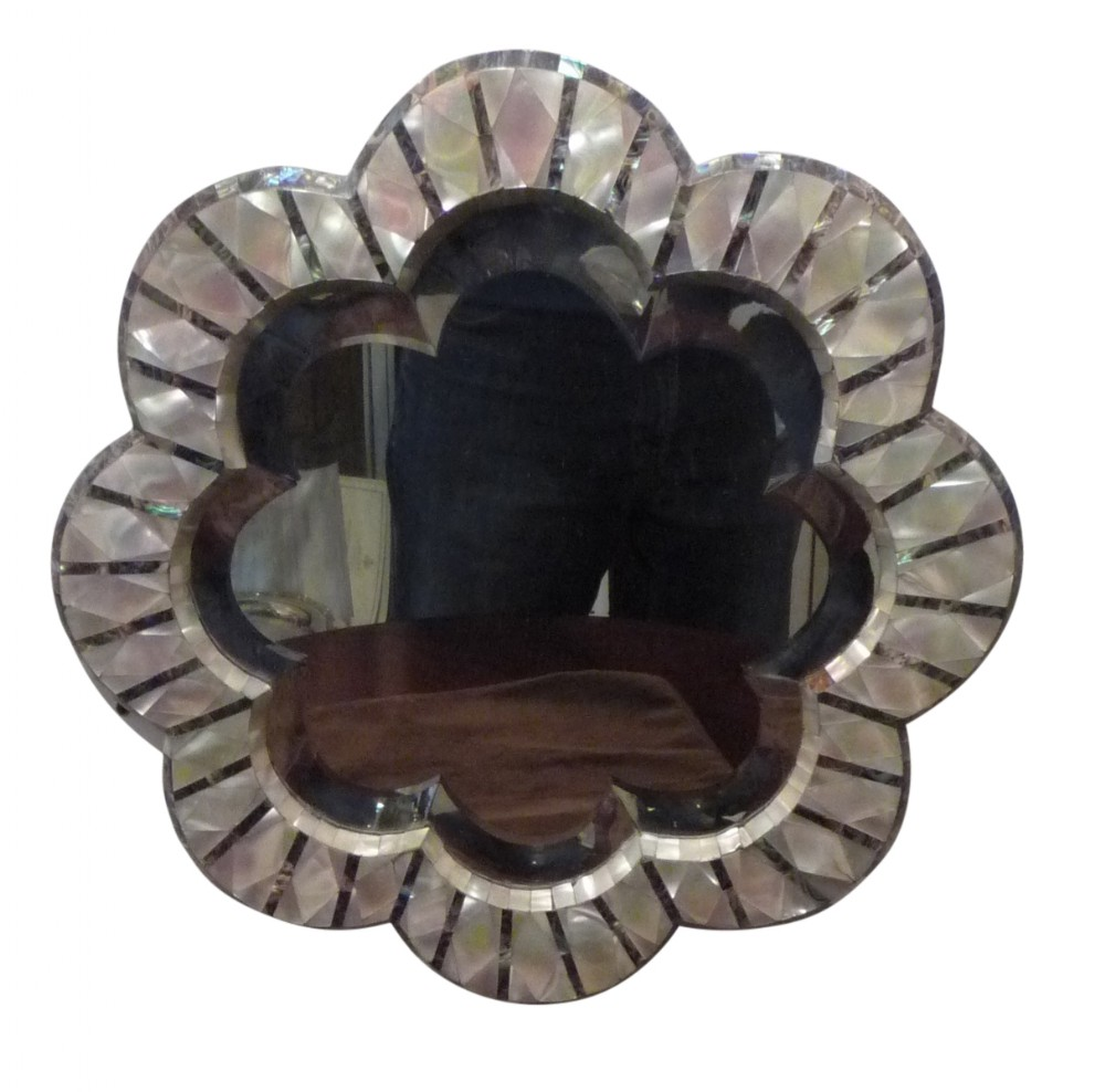 a late victorian mother of pearl mirror c1890