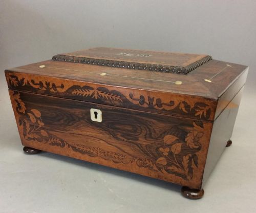 early 19th century rosewood work box