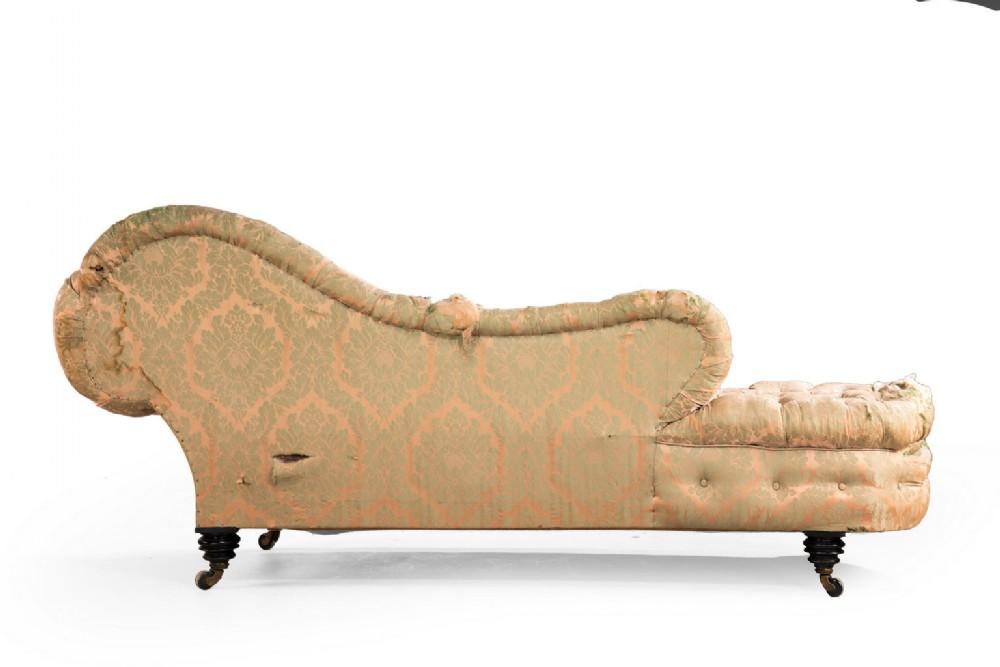 Mid 19th century mahogany framed chaise lounge 354953 for 19th century chaise lounge