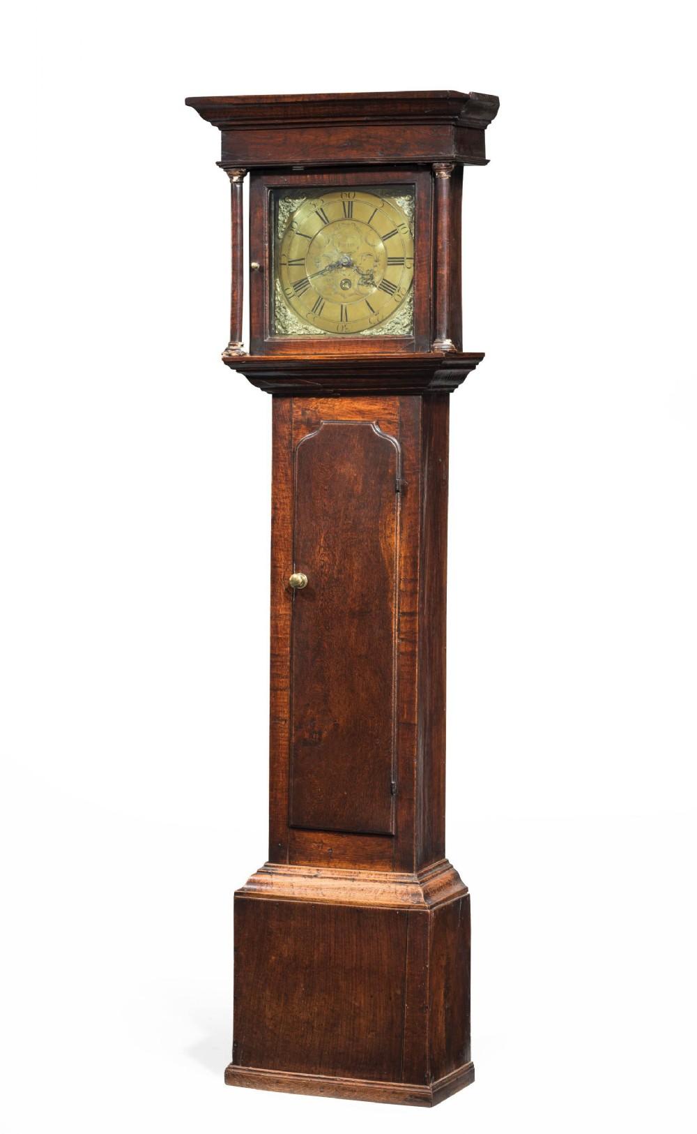 george iii period oak longcase clock by e foster of carlisle