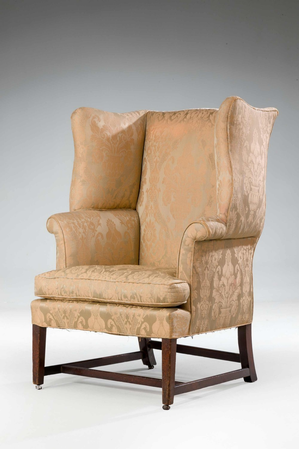george iii period wing chair with serpentine wings
