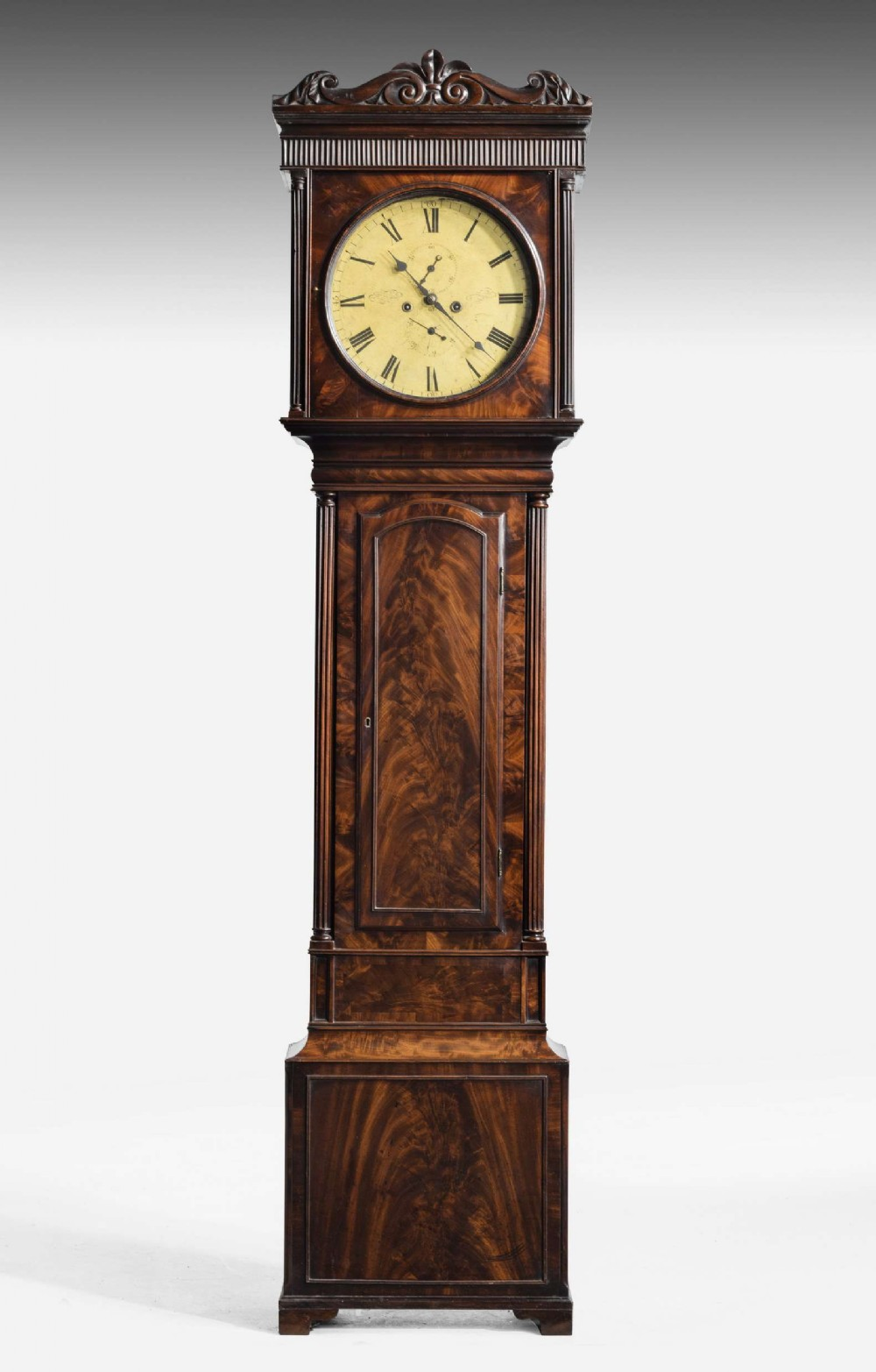 early 19th century mahogany longcase clock by alexander ralston