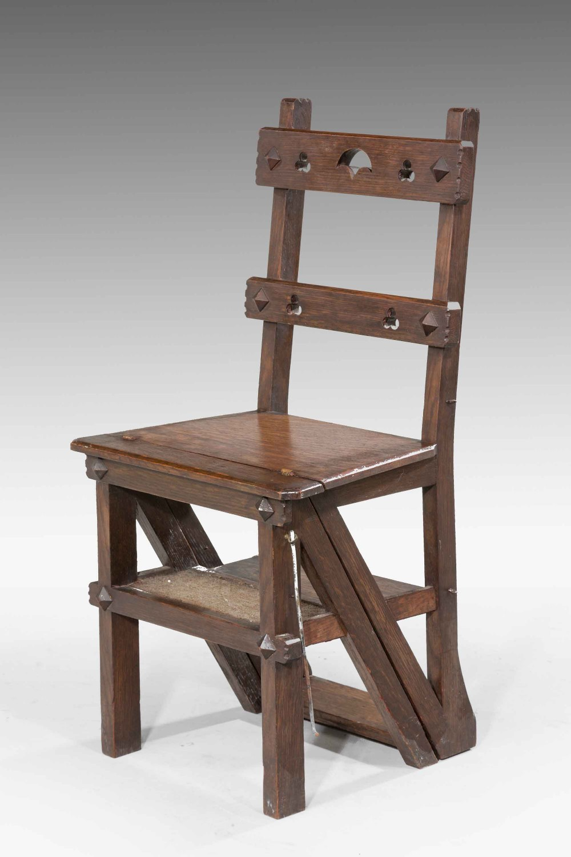 Pleasing A 19Th Century Oak Folding Library Chair 630404 Alphanode Cool Chair Designs And Ideas Alphanodeonline