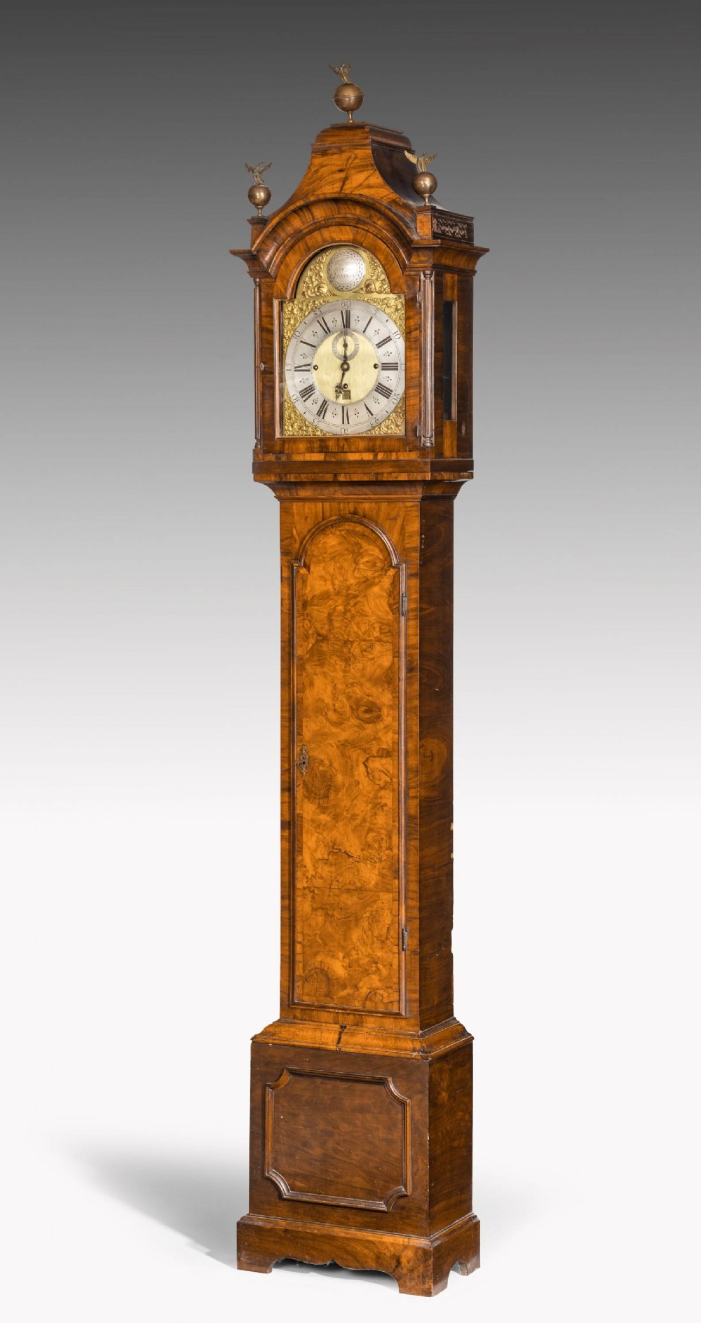 an unusual 19th century longcase clock in walnut engraved william harris
