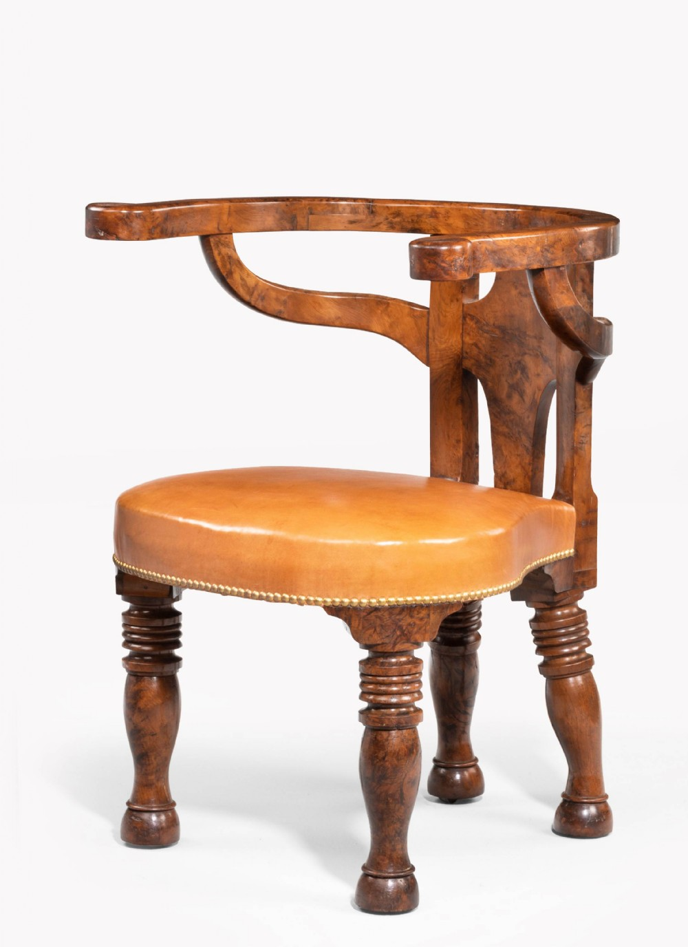 rare william iv period desk or library chair