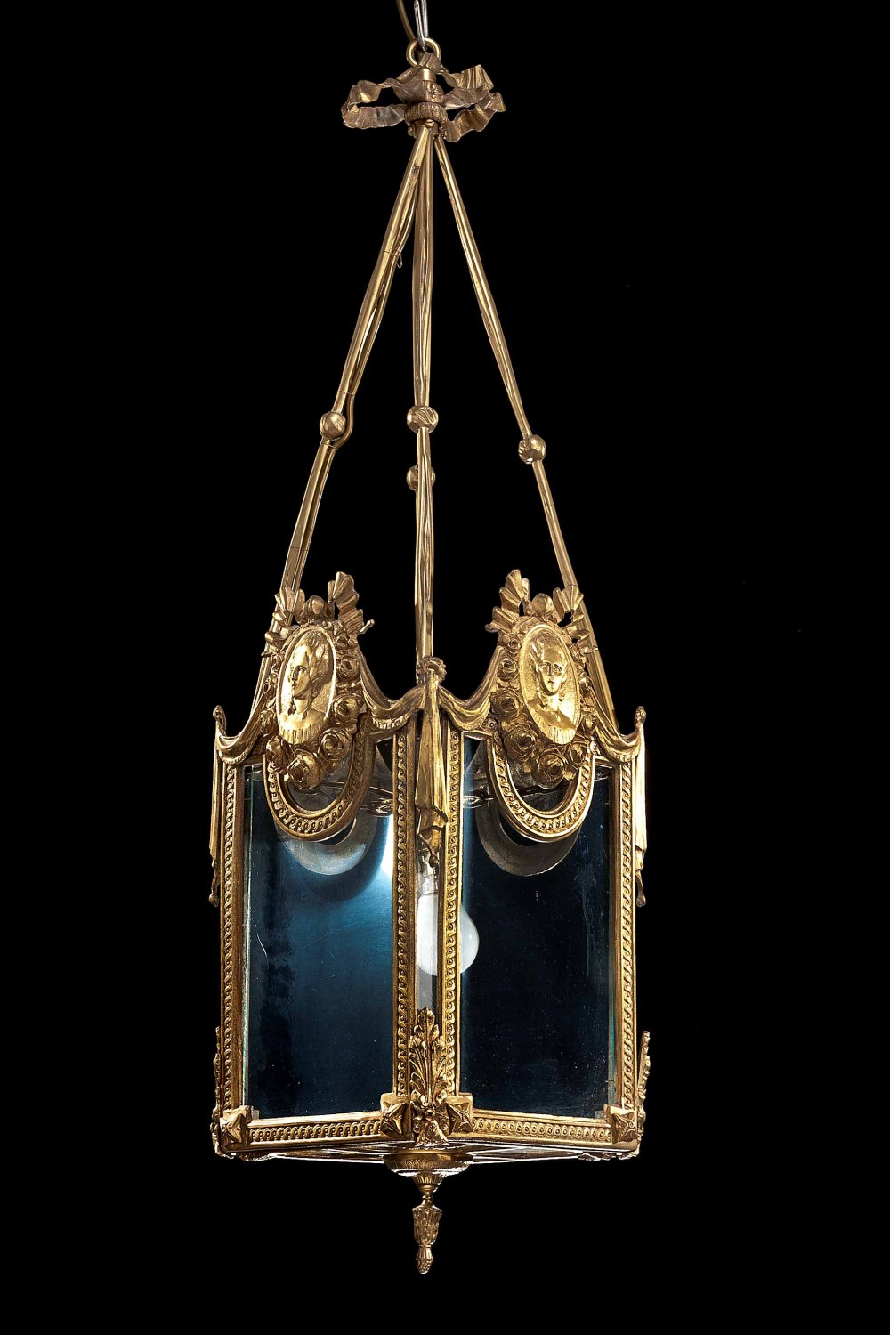 late 19th century gilt bronze lantern